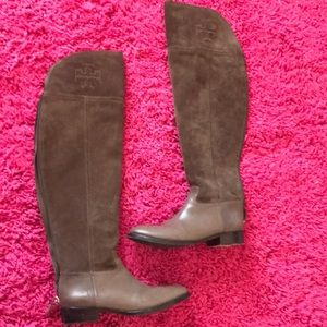 👢 Tory Burch over the knee simone suede boots 👢